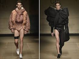 Designer Feng Cheng Wangs Catwalk At London Fashion Week Fall 2017 Because Nothing Says Everyday Guy Like Leather Underwear