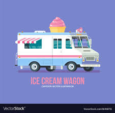 100 Icecream Truck Colorful Ice Cream Truck Modern Flat Royalty Free Vector