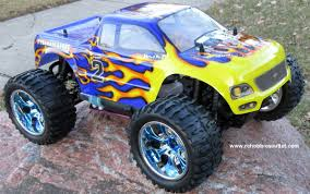 100 Monster Truck Nitro 2 RC Gas HSP 110 Scale 4WD 4G RTR 88004 B