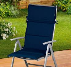 Amazon Uk Patio Chair Cushions by Garden Chair Seat Cushion In Blue High Back Outdoor Patio