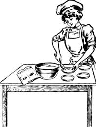 Woman Baking Clip Art