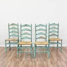 This Set Of 4 Shabby Chic Ladder Back Chairs Are Featured In ... 6 Ladder Back Chairs In Great Boughton For 9000 Sale Birch Ladder Back Rush Seated Rocking Chair Antiques Atlas Childs Highchair Ladderback Childs Highchair Machine Age New Englands Largest Selection Of Mid20th French Country Style Seat Side By Hickory Amina Arm Weathered Oak Lot 67 Set Of Eight Lancashire Ladderback Chairs Jonathan Charles Ding Room Dark With Qj494218sctdo Walter E Smithe Fniture Design A 19th Century Walnut High Chair With A Stickley Rush Weave Cape Ann Vintage Green Painted