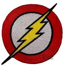 Image Is Loading THE FLASH Lightning Bolt Logo EMBROIDERED IRON ON