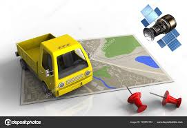 100 Commercial Truck Gps Map With Yellow Truck And Gps Satellite Stock Photo Mmaxer