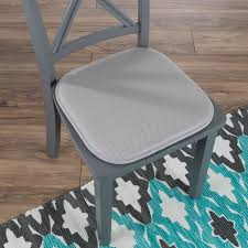 Memory Foam Chair Cushion Square 16Ax 16A Pad With Non Slip Backing For Kitchen Dining Room Patio Or Tailgating By Lavish Home Light Gray