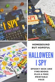 Halloween Picture Books 2017 by Halloween I Spy Spooky Seek And Find Books U0026 Printable