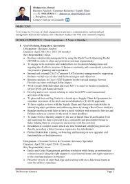 Resume: Resume Of Supply Chain Customer Service For Walmart ...