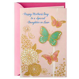 Daughter-In-Law Floral Butterflies Mother's Day Card