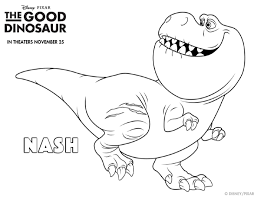 The Good Dinosaur Coloring Pages Inside Pdf