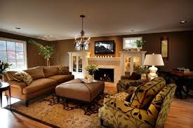 decorative hanging light with walls living room traditional