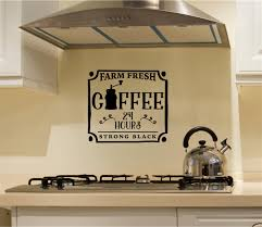 Farm Fresh Coffee Vinyl Decal Wall Stickers Letters Words Kitchen Decor