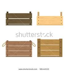 Vector Illustration Of Realistic Wooden Vegetable Box With Holes Fruit Drawer Front View Crate
