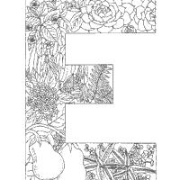 Plant Alphabet Letter E