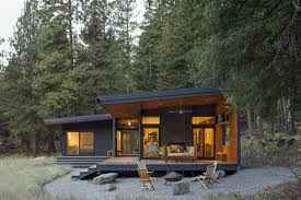 100 Cabins At Mazama Village Large Windows And Glazed Doors Let This Modern Cabin Mingle