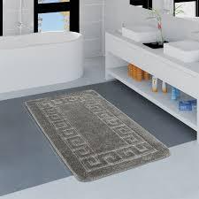 moderner badezimmer teppich bordüre badvorleger rutschfest