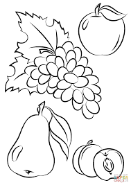 Printable Sizable Fruit Coloring Pages Autumn Fruits Page Free