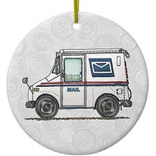 100 Who Makes Mail Trucks Amazoncom Cheyan Cute Truck Ceramic Ornament Circle Home