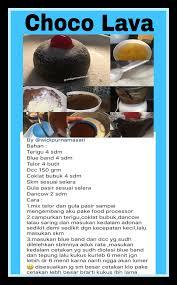 choco lava makanan dan minuman resep kue kue