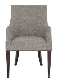 Grey Upholstered Dining Chairs With Nailheads by Dining Chair Bernhardt