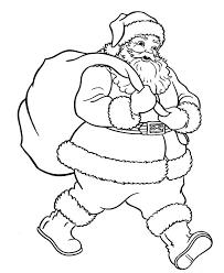Santa Carrying Christmas Gifts Coloring Page
