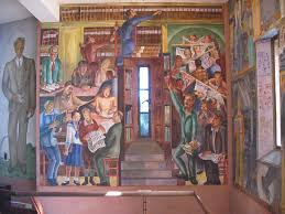 coit tower wpa mural photo page everystockphoto