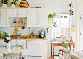 Shabby Chic Kitchen Ideas And White Cabinets In Farmhouse Design With Butcher Block Countertop Window Shelf