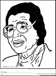 Brilliant Rosa Parks Coloring Page Printable With Black History Month Pages And
