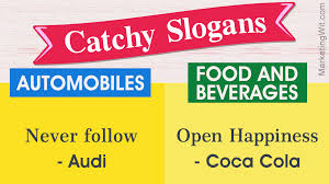 Catchy Advertising Slogans