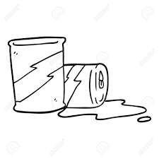 freehand drawn black and white cartoon soda cans Stock Vector