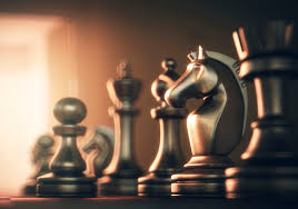 Chess Board And Pieces Illustration