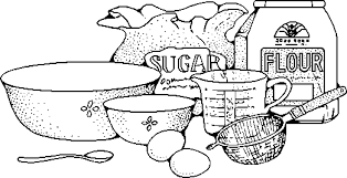 Baking clipart black and white 7