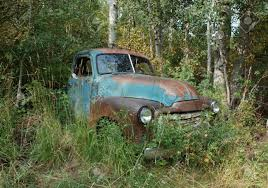 100 Antique Truck In The Woods In Summer Stock Photo Picture And