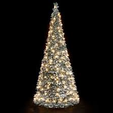 Snow Flocking For Christmas Trees by 6ft Pre Lit Snow Flocked Pop Up Christmas Tree 200 Warm White Lights