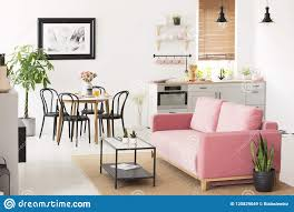 Pink Settee Near Black Chairs At Dining Table In Flat ... Oxford Velvet Side Chair Pink Set Of 2 Us 353 17 Off1 Set Vintage Table Chairs For Dolls Fniture Ding Sets Toys Girl Kid Dollin Accsories From Glass Pressed Argos Green Dressing Raymour Exciting Navy Blue Pating Dark Stock Photo Edit Now Settee Near Black At In Flat Zuo Modern Merritt 1080 Living Room Ideas Designs Trends Pictures And Inspiration Shabby Chic White Extendable Ding Table With 6 Pink Floral Chairs In Middleton West Yorkshire Gumtree Painted Metro Room 4pcs Stretch Covers Seat Protector