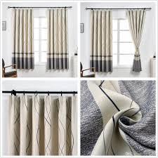 großhandel jarl startseite fenstervorhänge für wohnzimmer linie drucken polyester insulation100 200cm grommet kurz vorhang für küchentüren