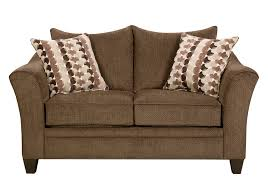 jada brown chenille sleeper sofa loveseat badcock home