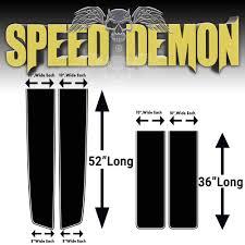 100 Speed Demon Trucks Chevrolet Truck Racing Stripes BA 19872000 Wraps