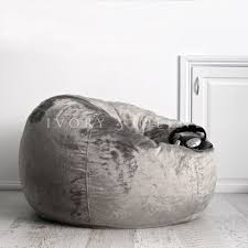 100 Furry Bean Bag Chairs For S FUR BEANBAG Charcoal Velvet Cover Grey Cloud Chair For