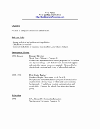 Child Care Resume Objective Daycare Examples Assistant
