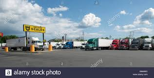 Truck Scales At Pilot Travel Centers Truck Stop, Milford, CT Stock ...
