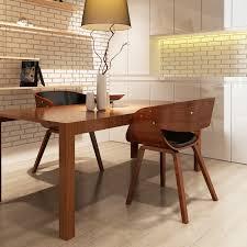 ikayaa set 2 stühle holz braun stühle für esszimmer es lager