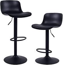 younike 2er set barhocker mit modernem design höhenverstellbar 360 drehstuhl küchenstühle mit rückenlehne fußstütze hohe barhocker für