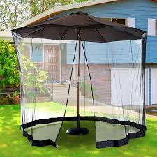 Patio Umbrella With Netting by Aosom Outsunny 7 5 U0027 Outdoor Umbrella Mosquito Net Black