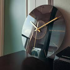 wanduhr für wohnzimmer mit glaseffekt fashion stylers