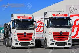 100 New Mercedes Truck NAANTALI FINLAND SEPTEMBER 16 2016 Benz Actros