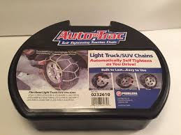 TIRE CABLE SNOW Chains, Pair Of Light Truck & Suv Peerless 0232610 ...