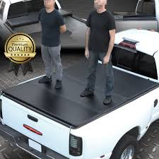 FOR 04-18 FORD F150 Truck 5.5Ft Short Bed Frp Hard Solid Tri-Fold ...