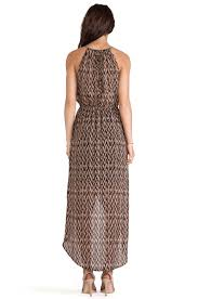 sanctuary cape town maxi dress in brown lyst