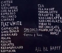 Laughing Man Coffee Tea Menu
