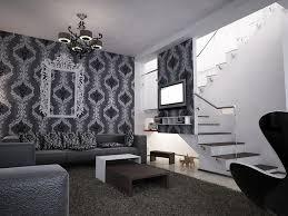 bilder 3d interieur wohnzimmer schwarz weiß valea lupului 5